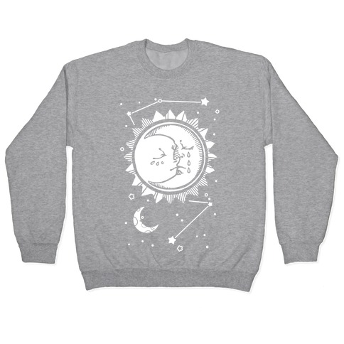 Sun and Moon Faces Pullover