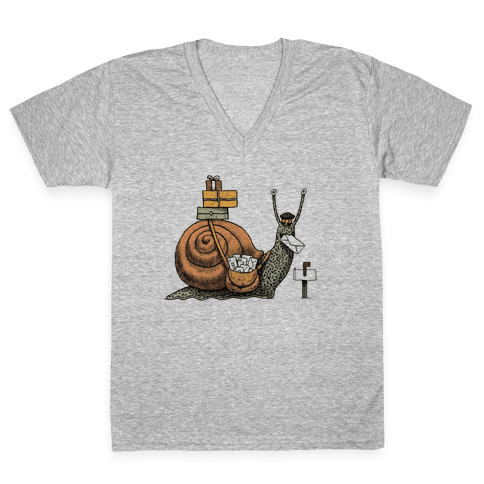 Snail Mail V-Neck Tee Shirt