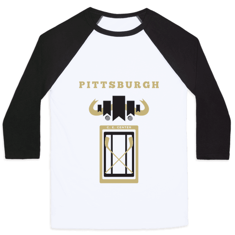Pittsburgh Stadium Hockey Fan Baseball Tee