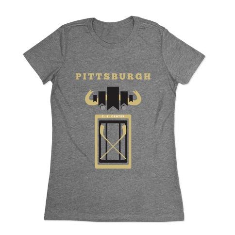 Pittsburgh Stadium Hockey Fan Womens T-Shirt