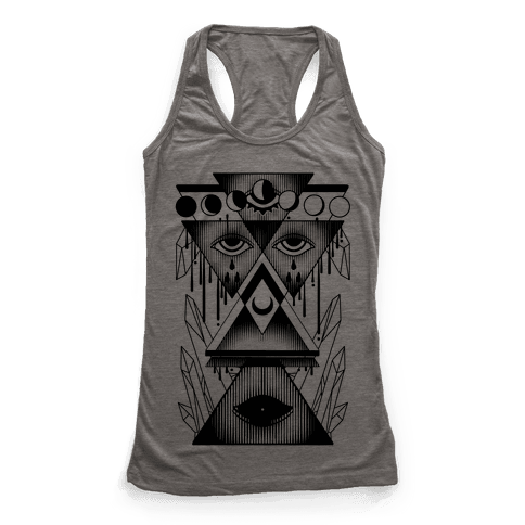 Witch Collage Racerback Tank Top