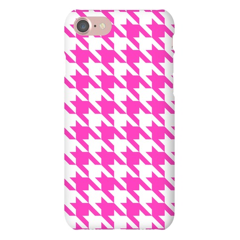 Pink Houndstooth Phone Case