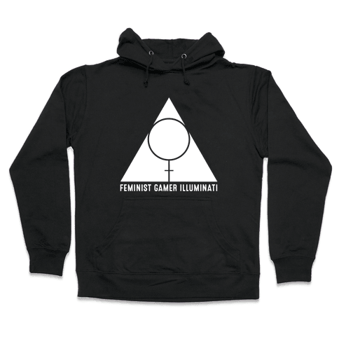 Feminist Gamer Illuminati Hooded Sweatshirt
