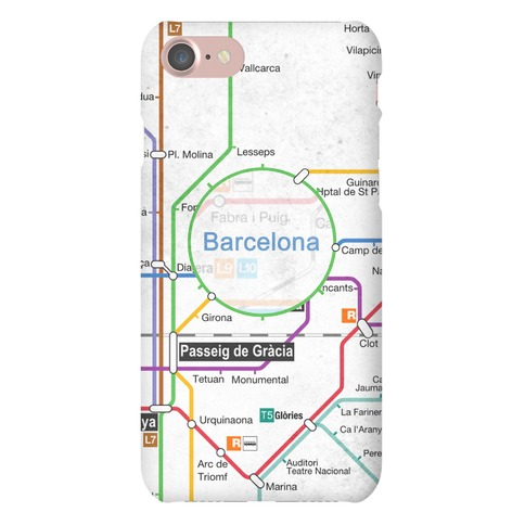 Barcelona Transit Map Phone Case