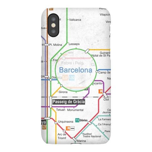 Barcelona Transit Map Phone Case
