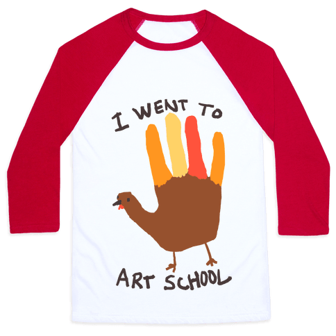 I Went To Art School Hand Turkey