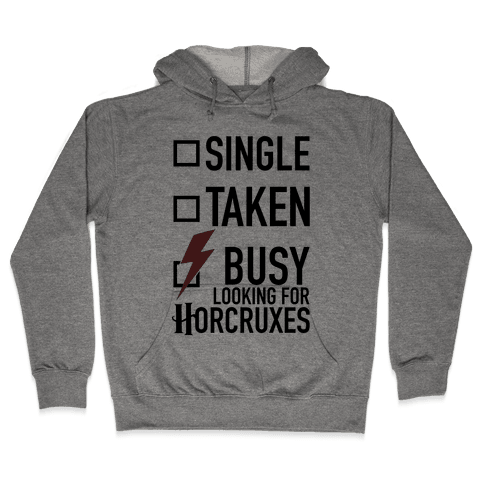 Busy Looking For Horcruxes Hooded Sweatshirt
