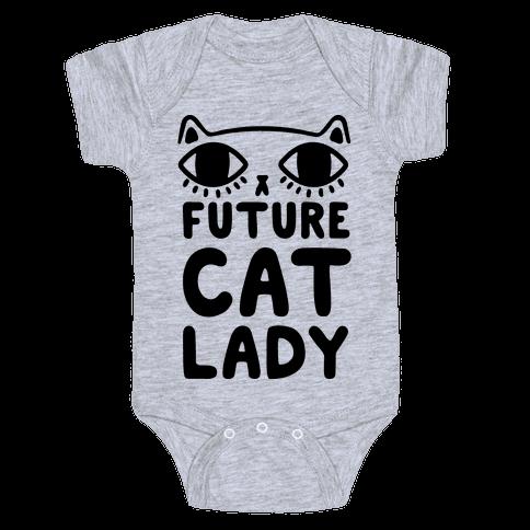 Future Cat Lady Baby Onesy