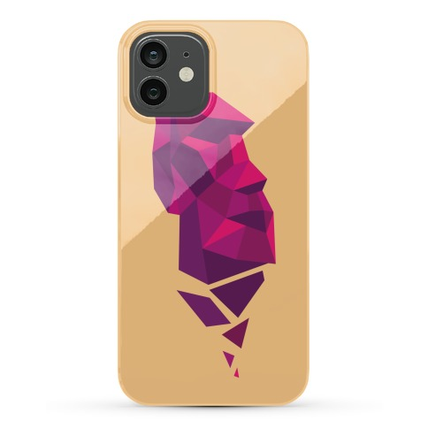 Fractal Moai Head Phone Case