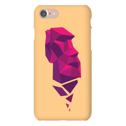Fractal Moai Head Phone Case