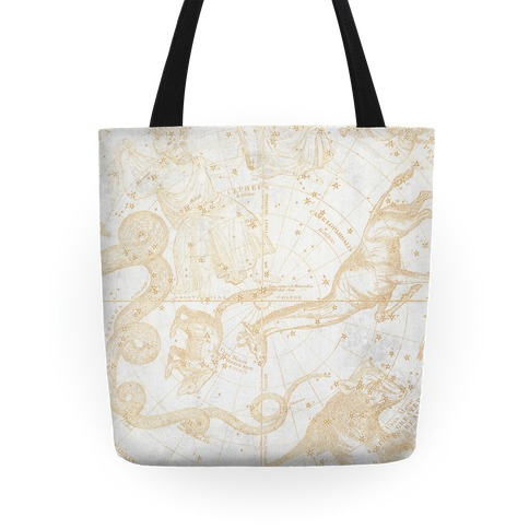 Constellation Vintage Map Tote