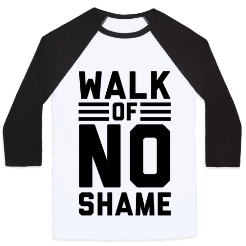 Walk Of No Shame Baseball Tee