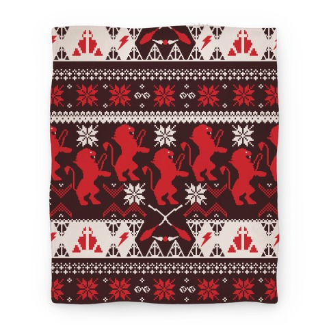 Hogwarts Ugly Christmas Sweater Pattern: Gryffindor Blanket