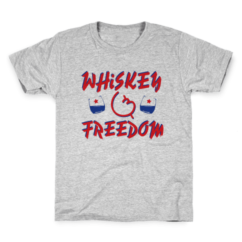 Whiskey And Freedom Kids T-Shirt