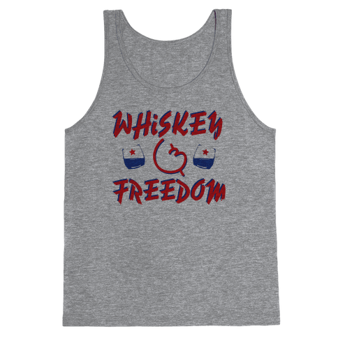 Whiskey And Freedom Tank Top