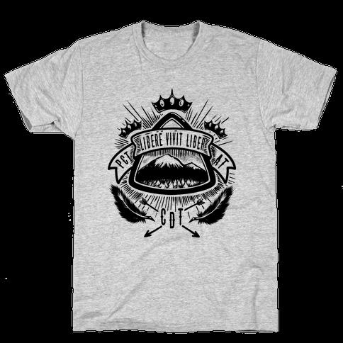 Triple Crown Hiking Trail Crest Mens T-Shirt
