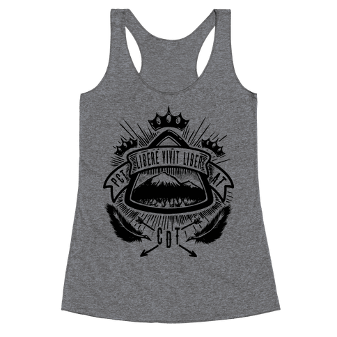 Triple Crown Hiking Trail Crest Racerback Tank Top
