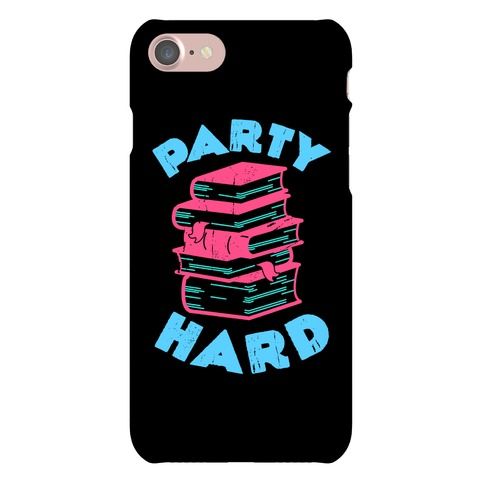 Party Hard Book Stack Phone Case