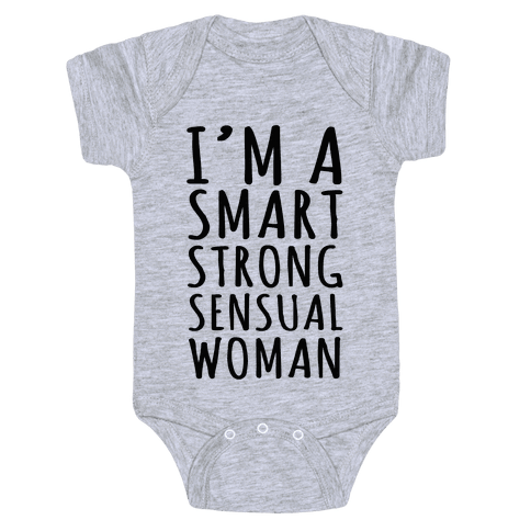Smart Strong Sensual Woman Baby Onesy
