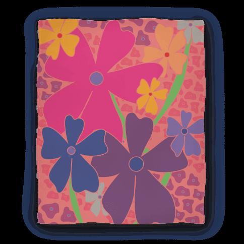 Pink Happy Flowers Pattern Blanket
