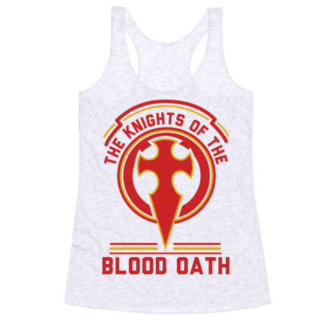 The Knights of The Blood Oath Racerback Tank Top