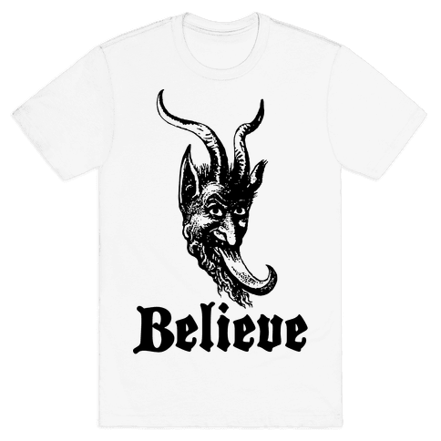 Believe In Krampus Mens T-Shirt
