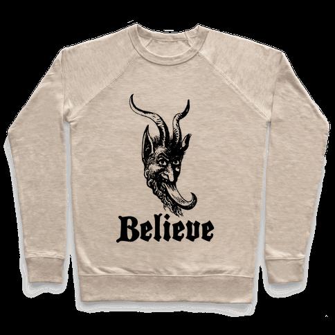 Believe In Krampus Pullover