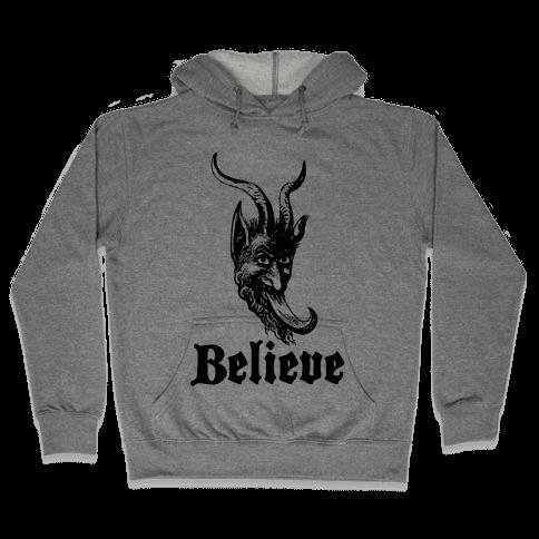 Believe In Krampus Hooded Sweatshirt