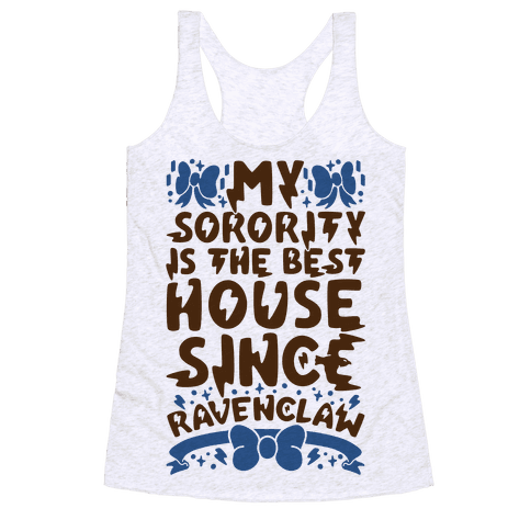 Ravenclaw Sorority Racerback Tank Top