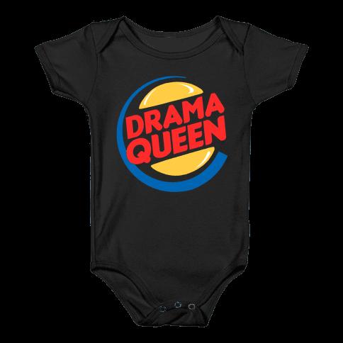 Drama Queen Burger Parody Baby Onesy