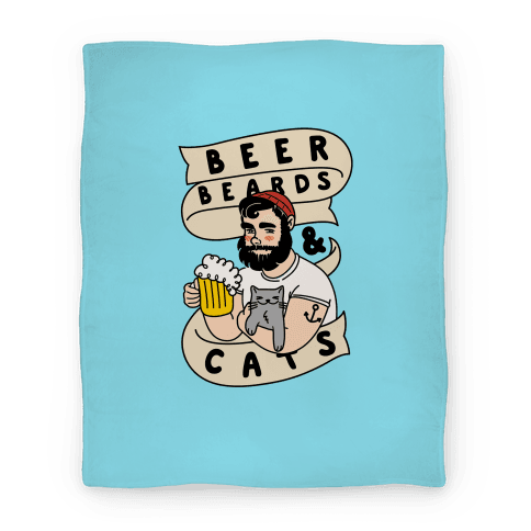 Beer, Beards and Cats Blanket