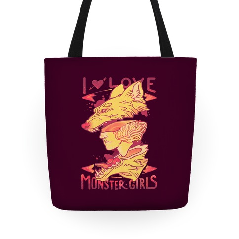 I Love Monster Girls Tote Tote
