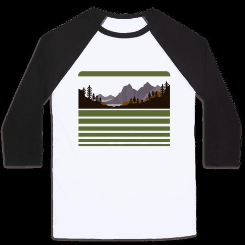 Mountain Landscape Baseball Tee