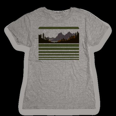 Mountain Landscape Womens T-Shirt