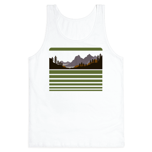 Mountain Landscape Tank Top