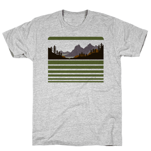 Mountain Landscape Mens T-Shirt