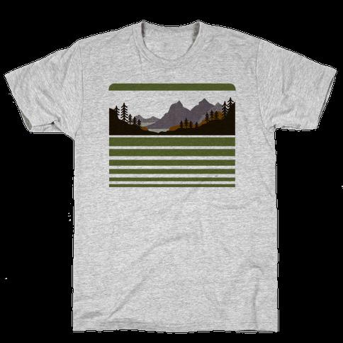 Mountain Landscape Mens T-Shirt