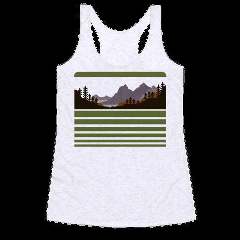 Mountain Landscape Racerback Tank Top