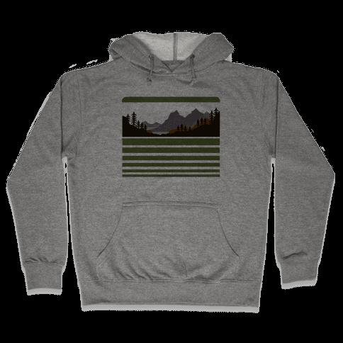Mountain Landscape Hooded Sweatshirt