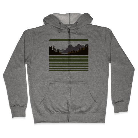Mountain Landscape Zip Hoodie