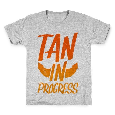 Tan In Progress Kids T-Shirt