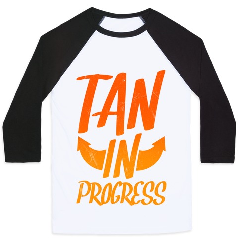 Tan In Progress Baseball Tee
