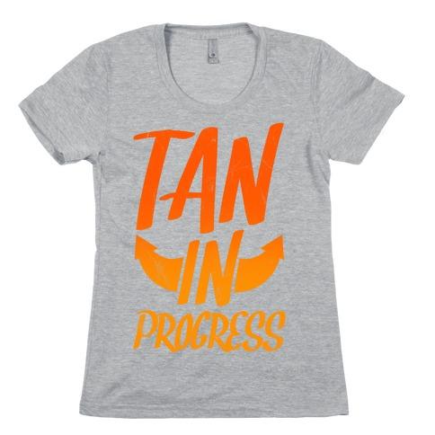 Tan In Progress Womens T-Shirt