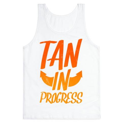 Tan In Progress Tank Top