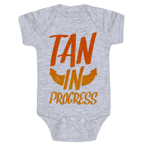Tan In Progress Baby Onesy