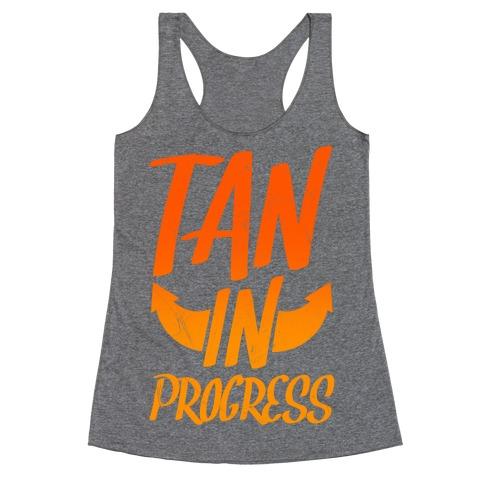 Tan In Progress Racerback Tank Top