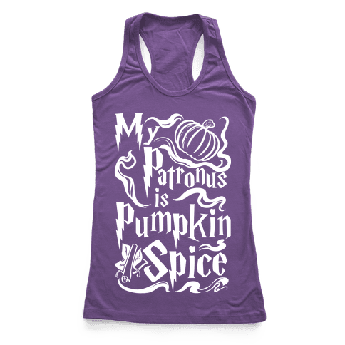 My Patronus is Pumpkin Spice Racerback Tank Top