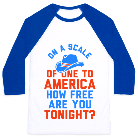 On a Scale of One To America (Tank) Baseball Tee