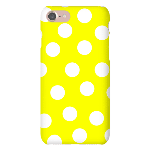 Yellow Polka Dot Case Phone Case