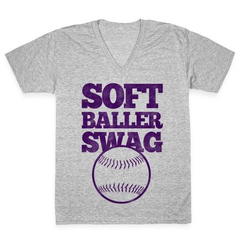 Soft Baller Swag V-Neck Tee Shirt
